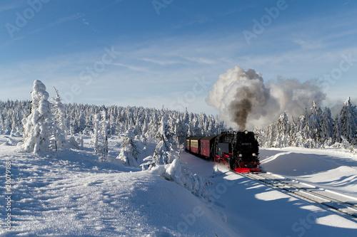 Die Brockenbahn mit der Lok 99 7241-5 der Harzer-Schmalspurbahne