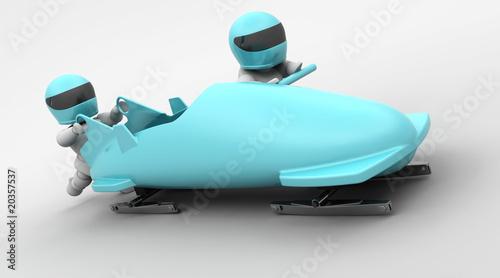 Photo two man bobsleigh