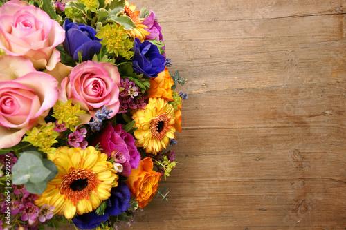 Leinwand Poster Blumenstrauß
