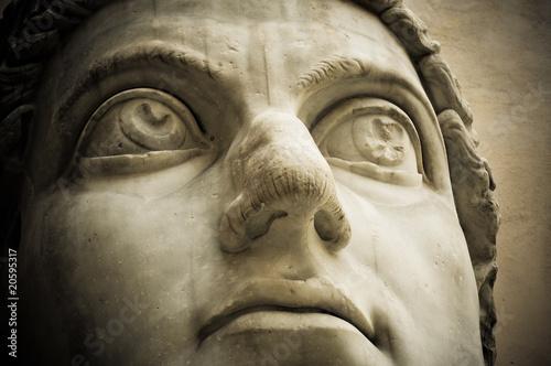 Obraz na płótnie Head of emperor Constantine, Capitol, Rome