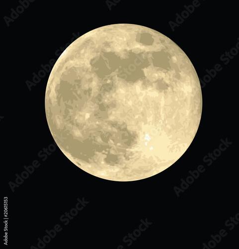 Fotografiet full moon, realistic vector