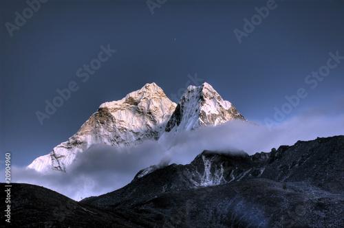 Stampa su Tela Ama Dablam - Solo Khumbu, Himalaja, Nepal