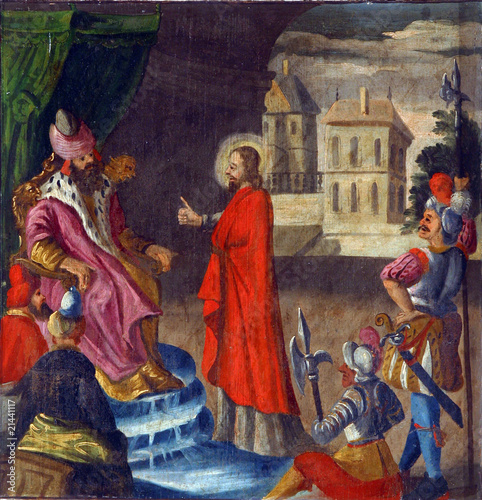 Carta da parati Jesus is condemned to death