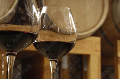 Foto vino rosso e botte