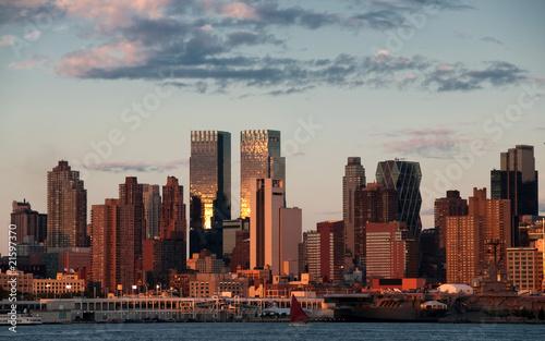vibrant new york city late evening, usa