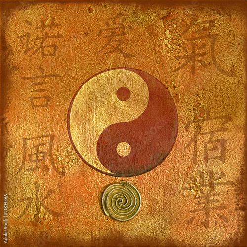 Canvas Print Collage yin yang