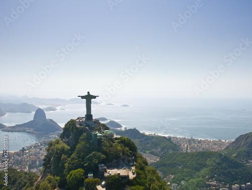 Canvas Print Dramatic Aerial view of Rio De Janeiro