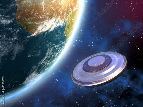 Canvas Print Ufo invasion