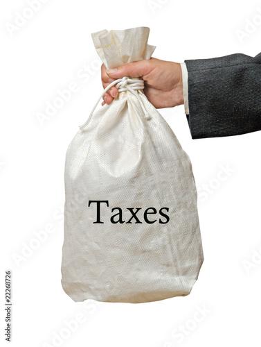 Canvas Print Collecting taxes