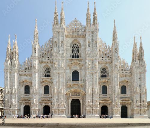 Obraz na plátně Facade of Milan Cathedral (Duomo), Lombardy, Italy