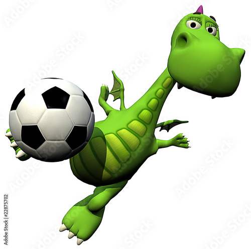 football - soccer player volley - baby dragon baby