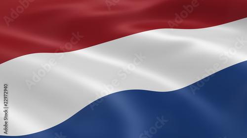 Fotografía Dutch flag in the wind