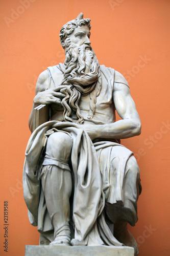 Fotografia, Obraz Sculpture of Moses by Michaelangelo