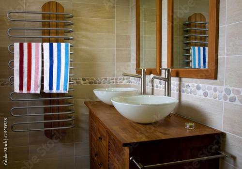 Espace Salle de bain Teck Fototapeta
