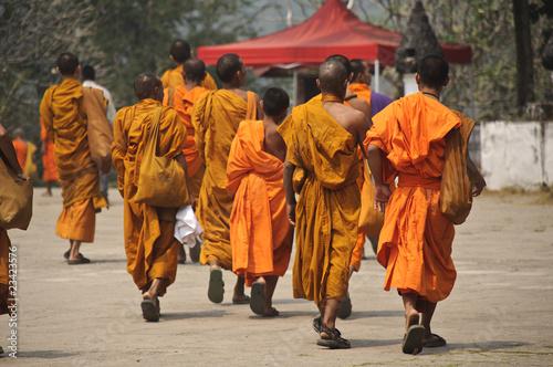 Buddhistische Mönche,Laos,Asien Fototapeta