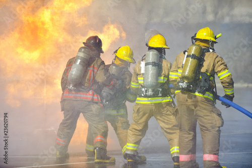 Canvas Print Fire training exercise