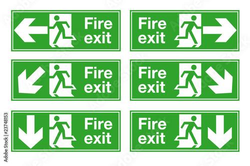 Slika na platnu Fire Exit