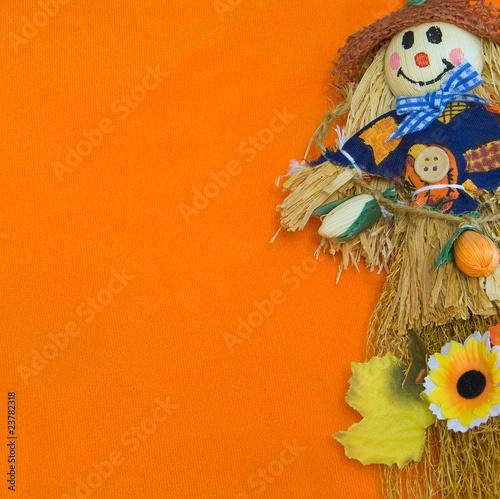 Wallpaper Mural Halloween Scarecrow.