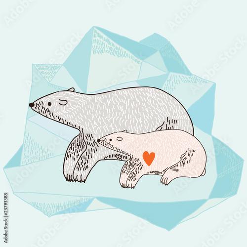 Matka z niedźwiedziem polarnym