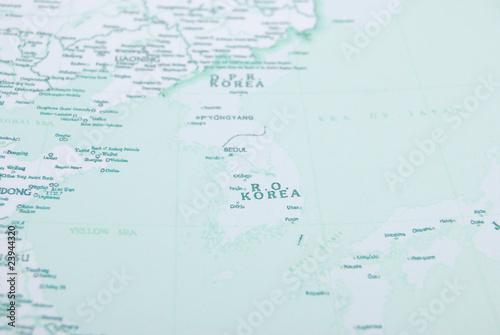 korea on map #23944320