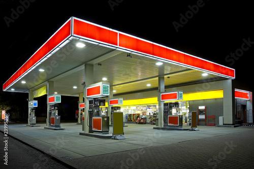 Obraz na plátne Tankstelle