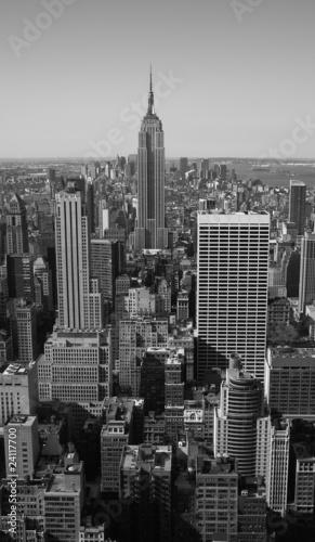 Fototapeta premium New York City Panorama czarno-biała
