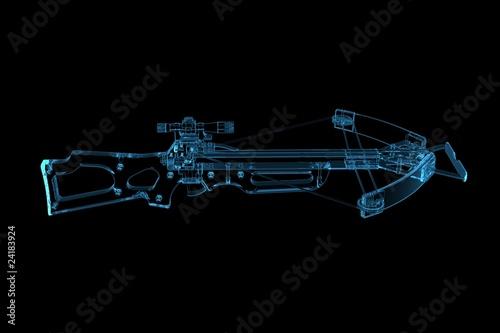 Leinwand Poster Crossbow (3D xray blue transparent)