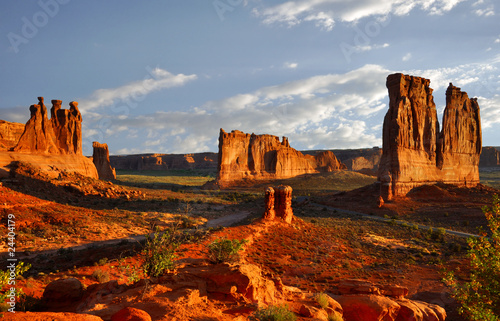Stampa su Tela Rock Formations in Arches National Park