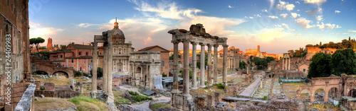 panoramiczny widok rzymu hdr