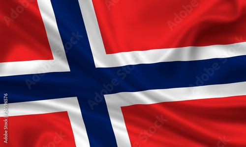 Photo Flag of Norway Norwegen Fahne Flagge