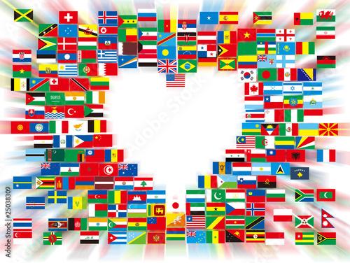 ハートの万国旗 #25038309