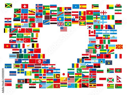 ハートの万国旗 #25038311