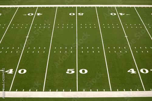 Fototapeta premium Puste boisko do futbolu amerykańskiego
