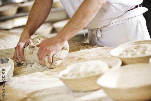Tableau sur Toile Boulanger artisanat 4