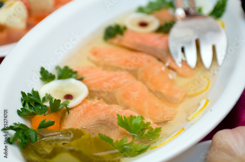 Aspic from salmon