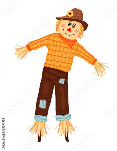 Obraz na płótnie Cute Scarecrow - EPS AI 8, no effects, easy print