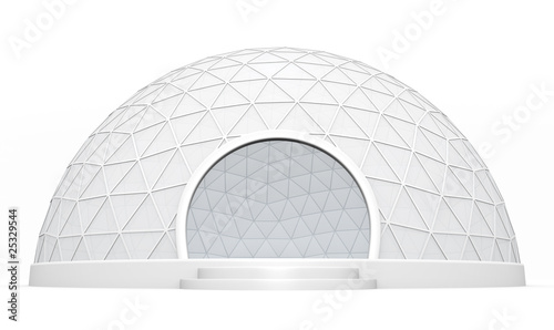 Leinwand Poster Dome tent