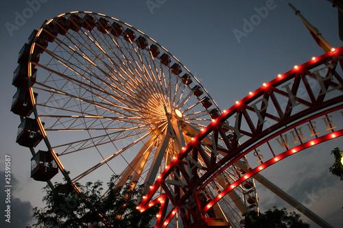Chicago Ferris Wheel at Navy Pier