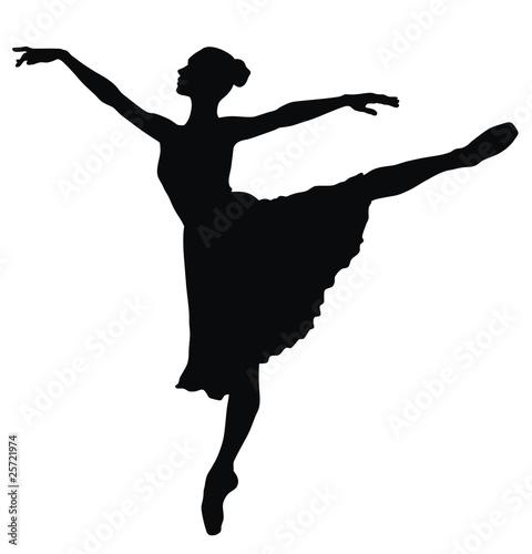 Canvastavla Ballerina