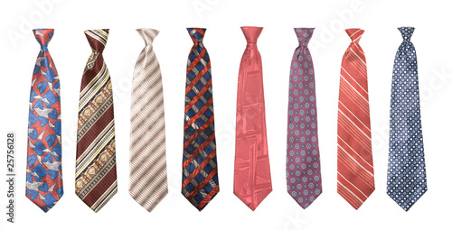 Tableau sur Toile Set of man's ties isolated