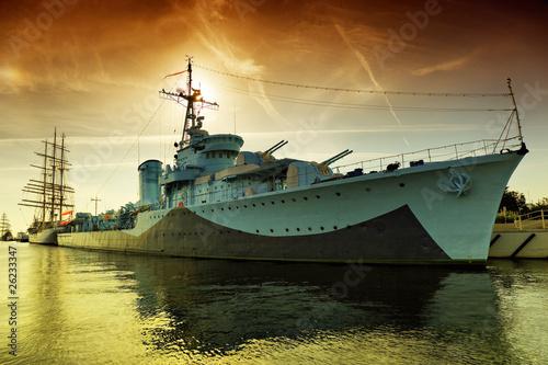 Canvas Print Warship