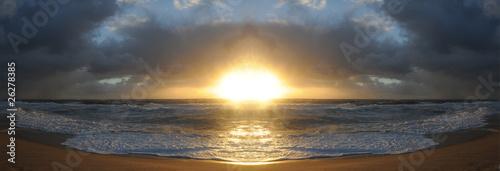 dramatischer Sonnenuntergang an der Nordsee Panorama #26278385