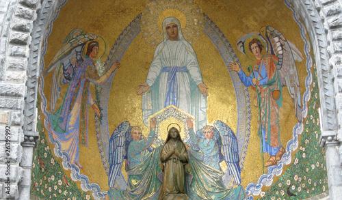 Obraz na plátně nicchia con la statua di Bernadette