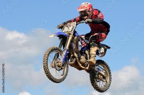 Photo en l'air en motocross