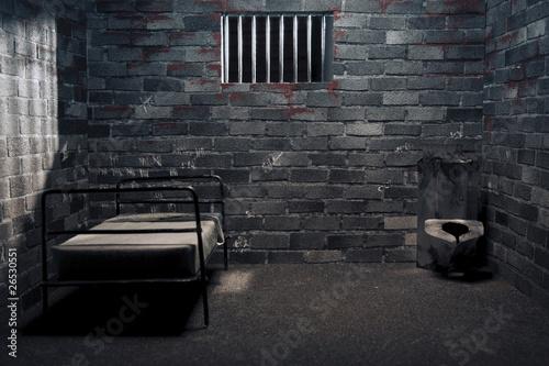 Dark prison cell at night Fototapet