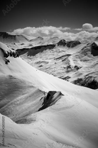 Fototapeta premium Alpy - czarno-białe