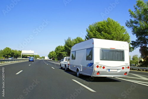 Slika na platnu Vacances en caravane