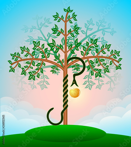 Foto Bible tree of knowledge