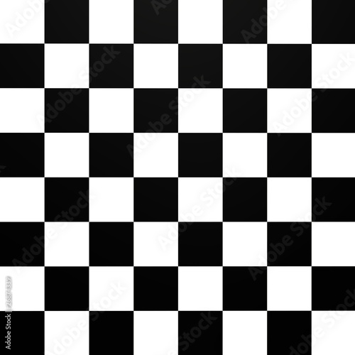 A chessboard pattern from top - 3d image Fototapet