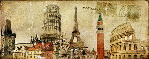 vintage postal card - ruropean holidays #26941540